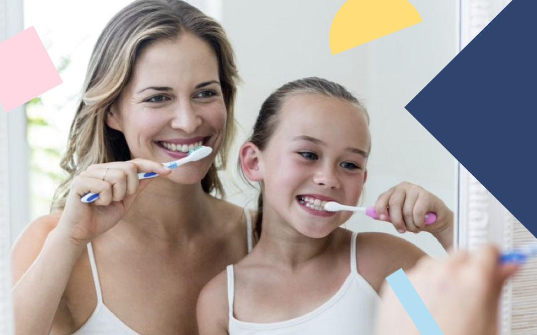 escovação dos dentes das crianças