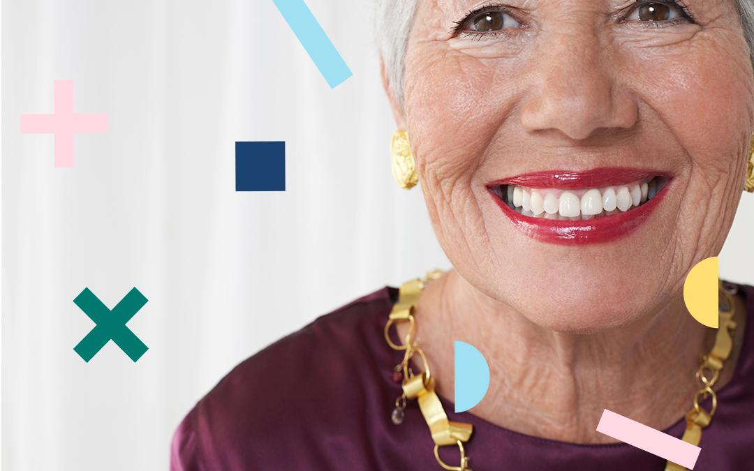 envejecimiento de los dientes